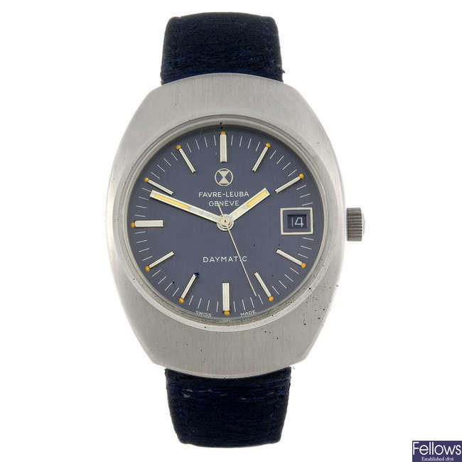 FAVRE-LEUBA - a gentleman's wrist watch with another gentleman's Favre Leuba wrist watch.