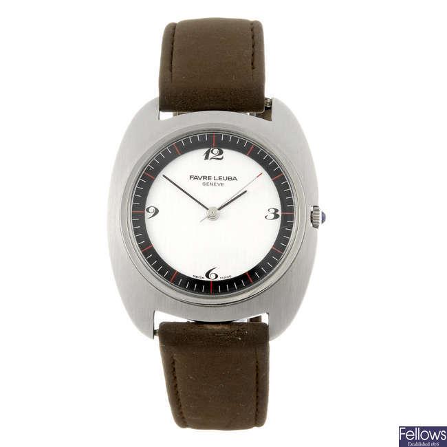 FAVRE-LEUBA - a gentleman's wrist watch with another gentleman's Favre-Leuba wrist watch.