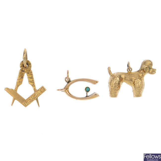A selection of five charms.