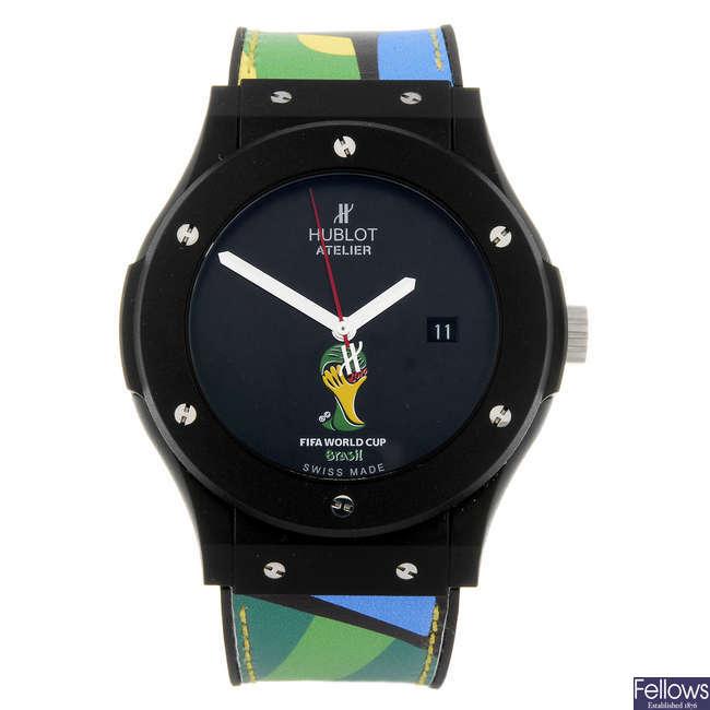 HUBLOT - a gentleman's Atelier Fifa World Cup Brazil 2014 wrist watch.