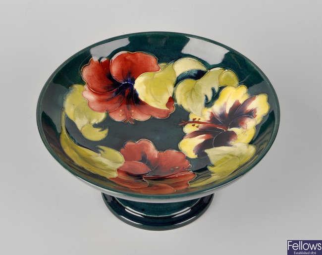 A Moorcroft pedestal bowl