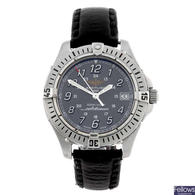 (911007430) BREITLING - a gentleman's Colt Ocean wrist watch.