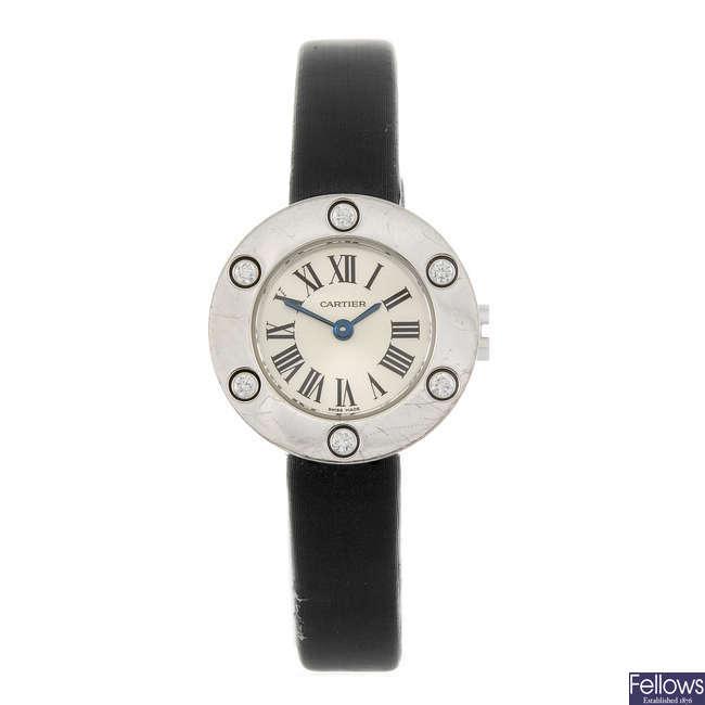 CARTIER - an 18ct white gold Love wrist watch.