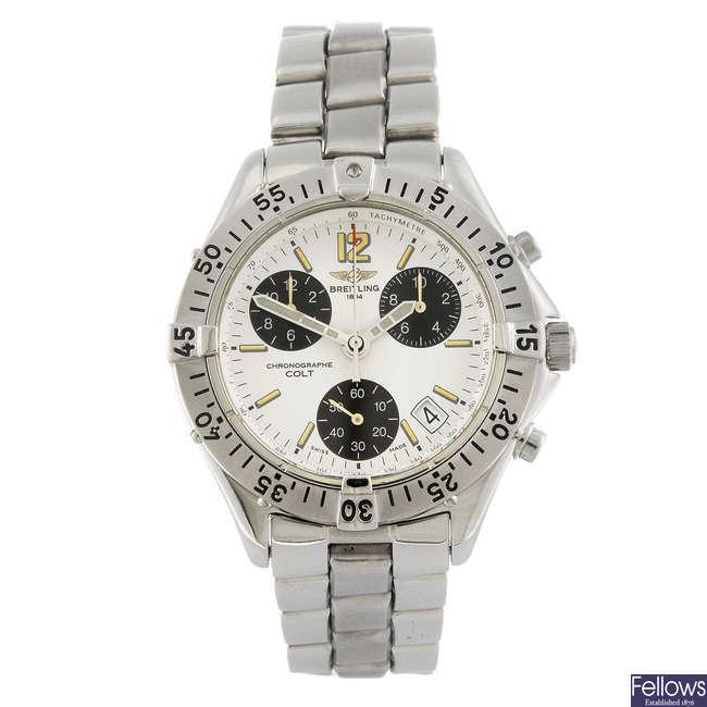 BREITLING - a gentleman's Chrono Colt Quartz chronograph bracelet watch.