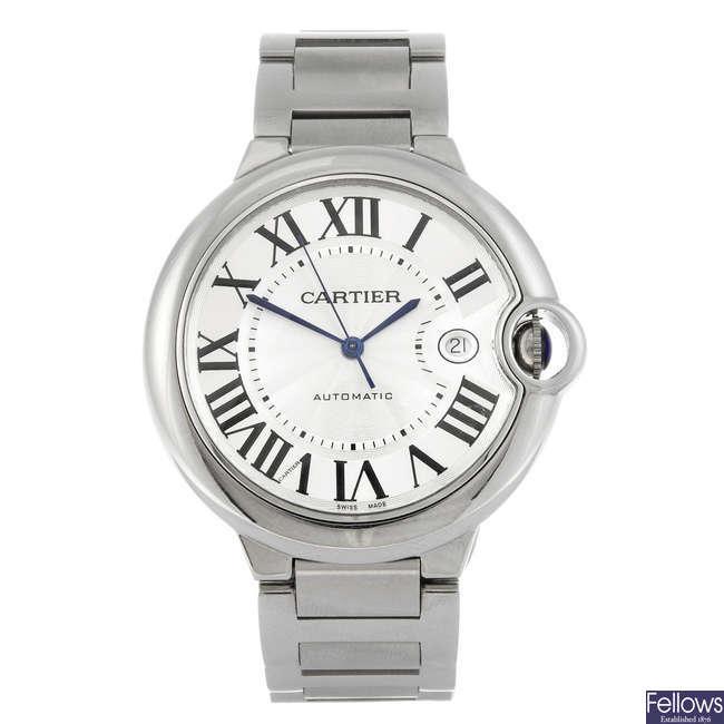 (808015591) CARTIER - a stainless steel Ballon Bleu bracelet watch.