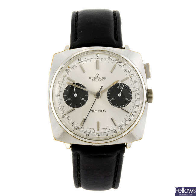 BREITLING - a gentleman's base metal Top Time chronograph wrist watch.