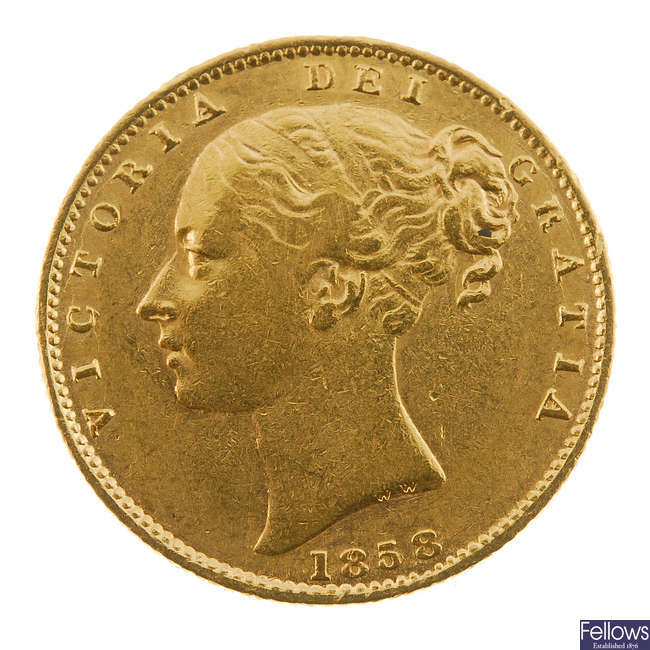 Victoria, Sovereign 1858.