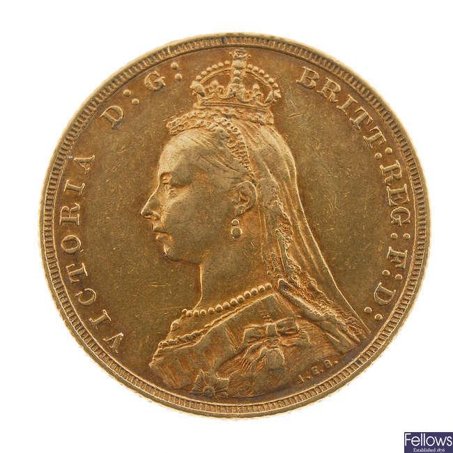 Victoria, Sovereign 1893M.