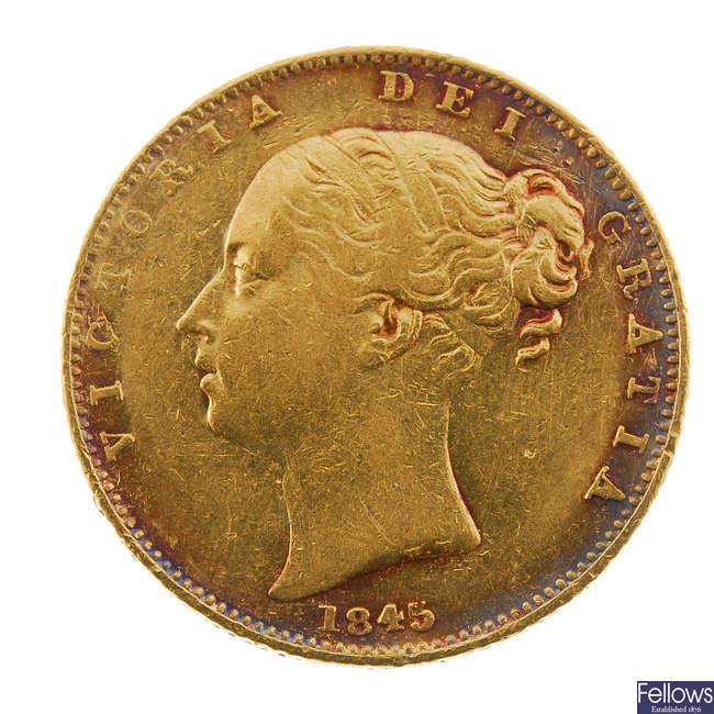 Victoria, Sovereign 1845.