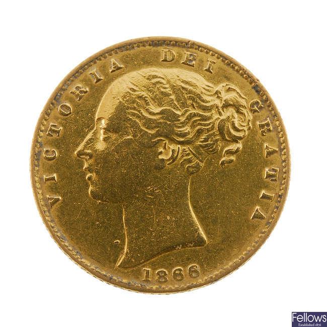 Victoria, Sovereign 1866.