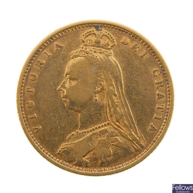 Victoria, Half-Sovereign 1880.