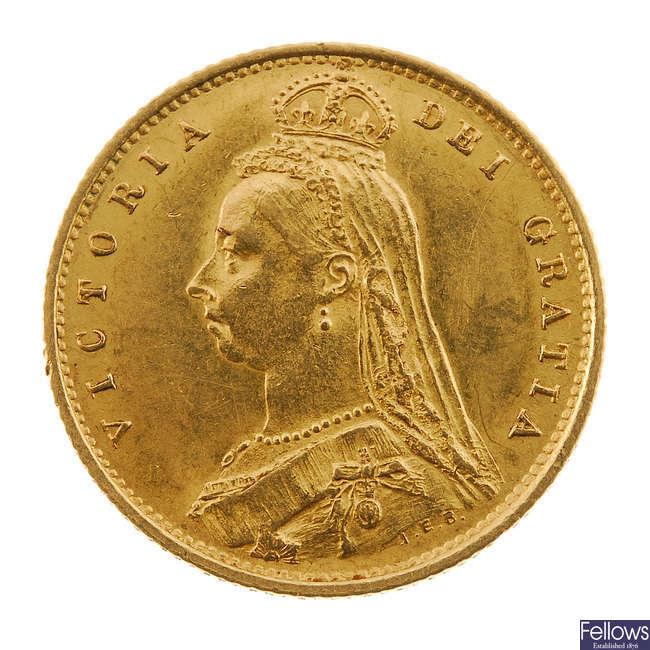 Victoria, Half-Sovereign 1887.