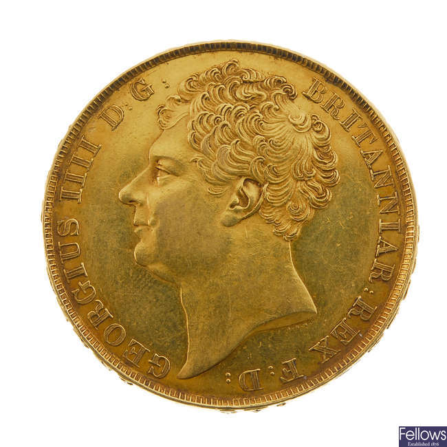George IV, gold Two-Pounds 1823.