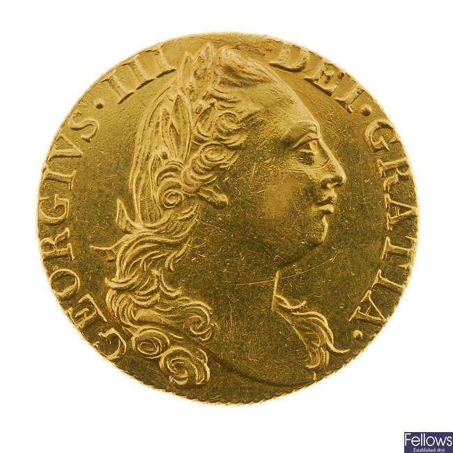 George III, Guinea 1775 (S 3728).