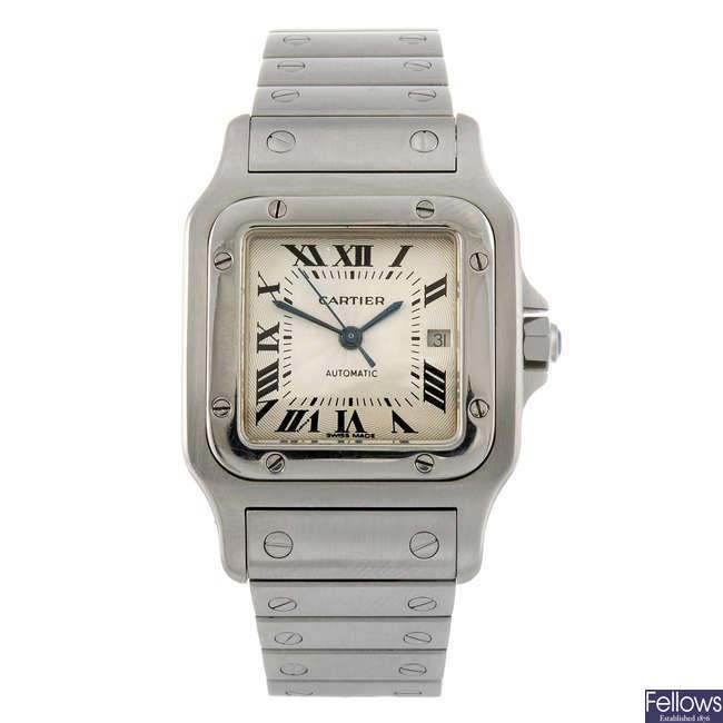 CARTIER - a Santos bracelet watch.