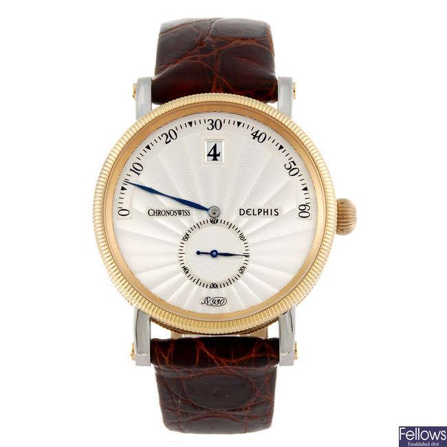 CHRONOSWISS - a gentleman's Delphi wrist watch.
