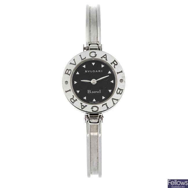 BULGARI - a lady's B.Zero 1 bangle watch.
