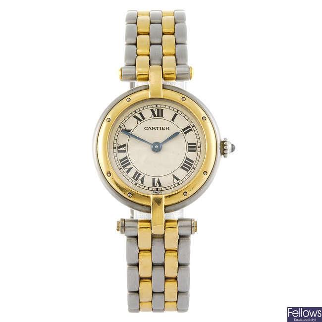 CARTIER - a Cougar bracelet watch.