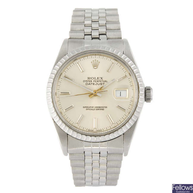 ROLEX - a  stainless steel Oyster Perpetual Datejust bracelet watch.