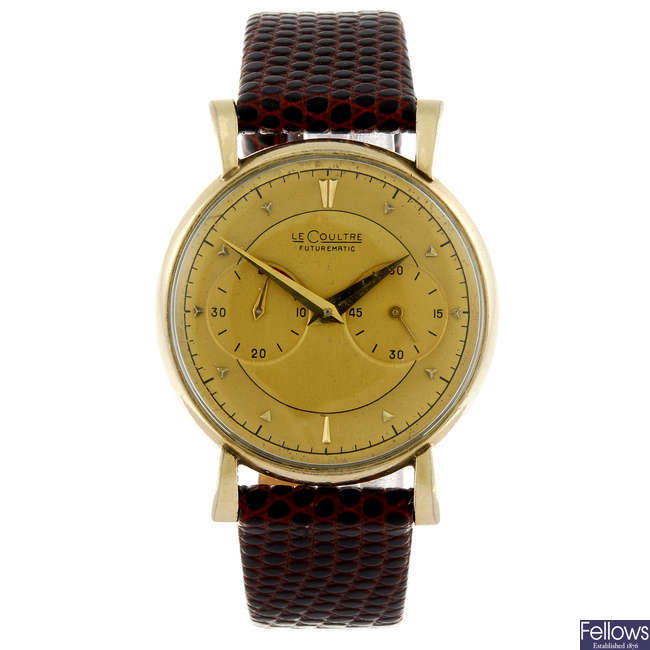 LECOULTRE - a gentleman's gold filled Futurematic wrist watch.