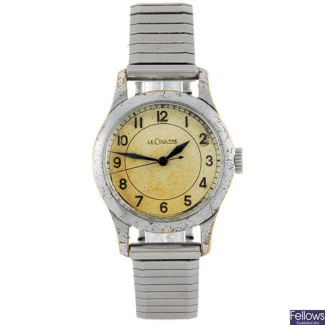 LECOULTRE - a base metal gentleman's bracelet watch.