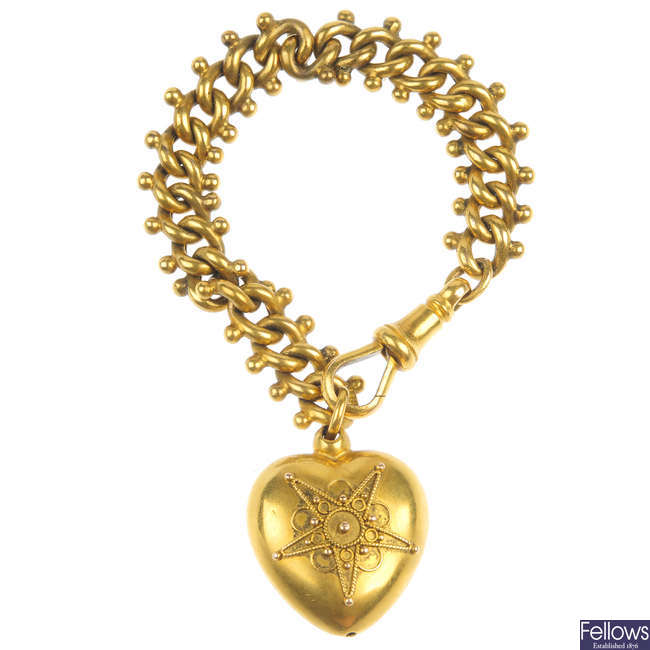 A late 19th century 15ct gold fob.