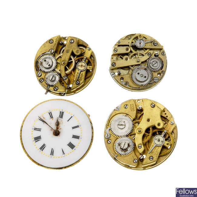 A large selection of various watch movements. Approximately 180.