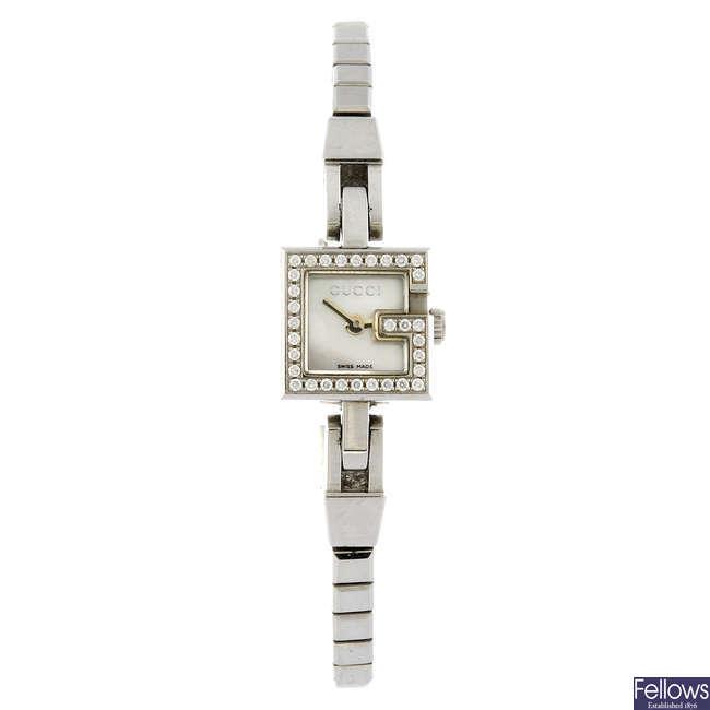 GUCCI - a lady's bracelet watch.