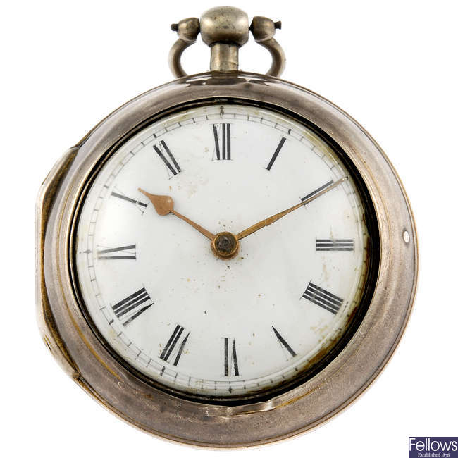 A pair case pocket watch by John Mather.