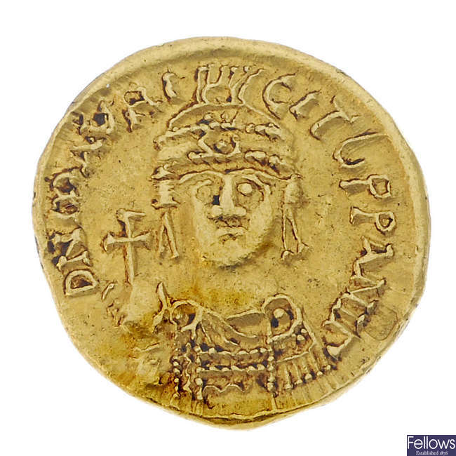 Byzantine Empire, Maurice Tiberius (AD 582-602), gold Solidus.