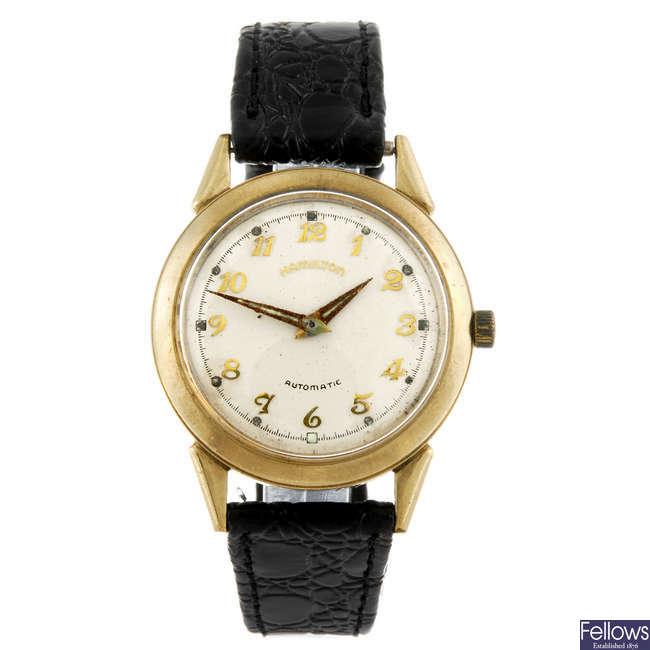 HAMILTON - a gentleman's gold plated K-451 wrist watch.