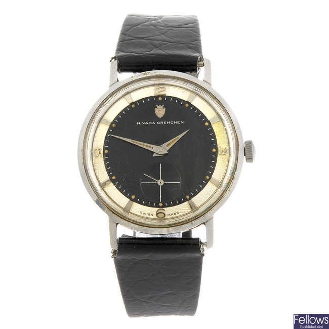 NIVADA GRENCHEN - a gentleman's wrist watch.