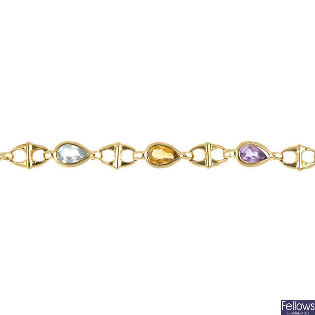 A gem-set bracelet.