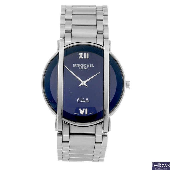 RAYMOND WEIL - a gentleman's stainless steel Othello bracelet watch.