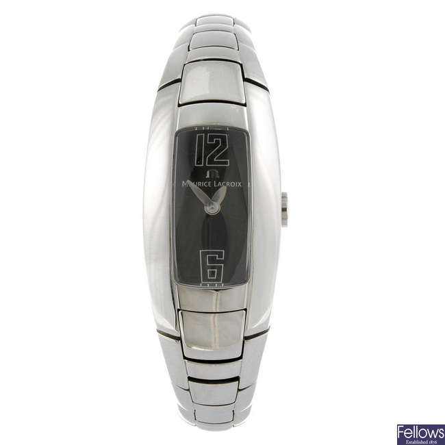 MAURICE LACROIX - a lady's stainless steel Intuition bracelet watch.