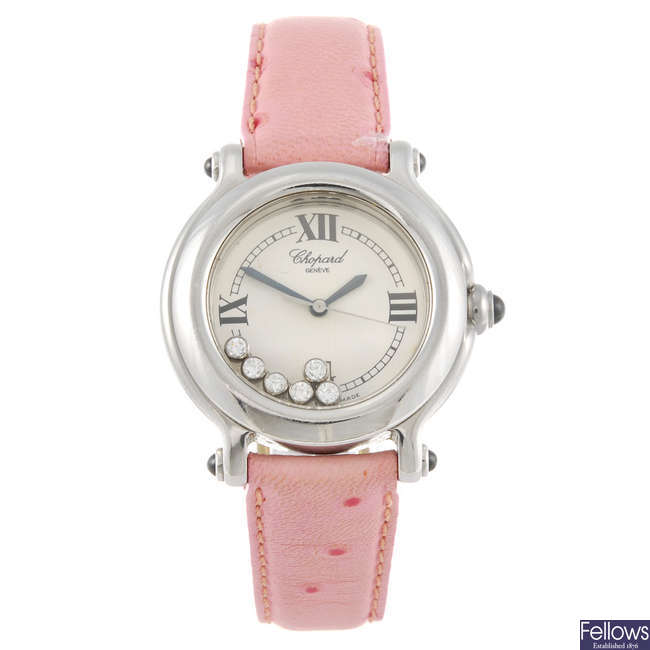 CHOPARD - a lady's Happy Sport wrist watch.