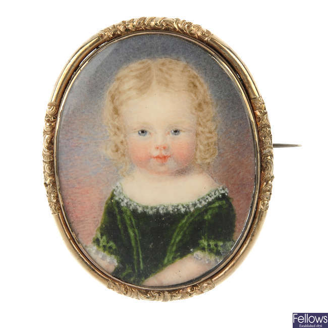 A late 19th century portrait brooch.