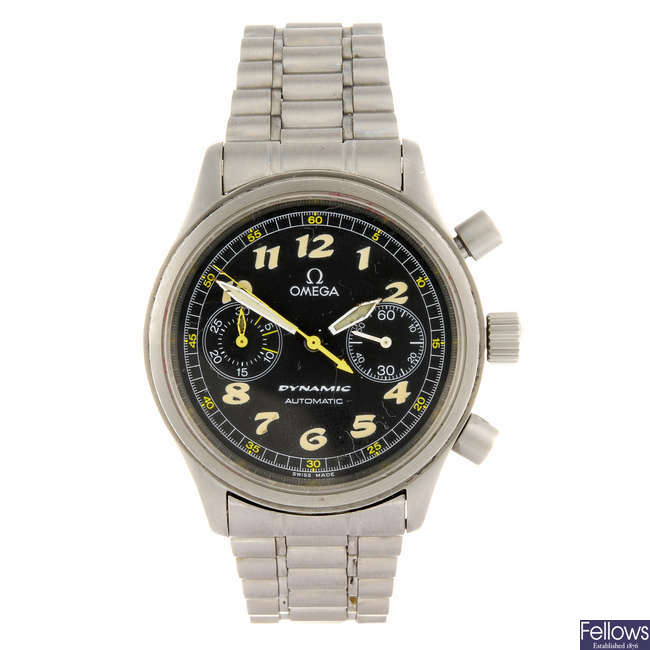 OMEGA - a gentleman's stainless steel Dynamic bracelet watch.
