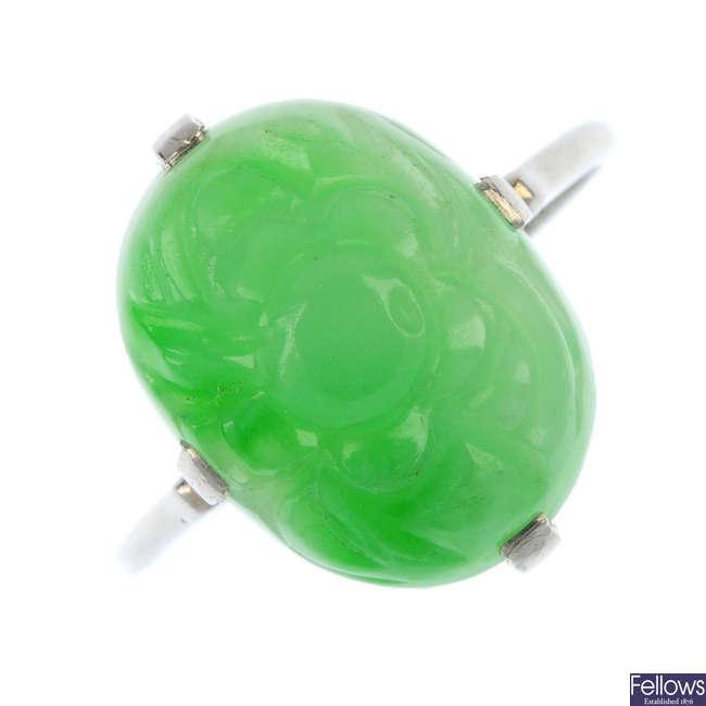 A jade ring.