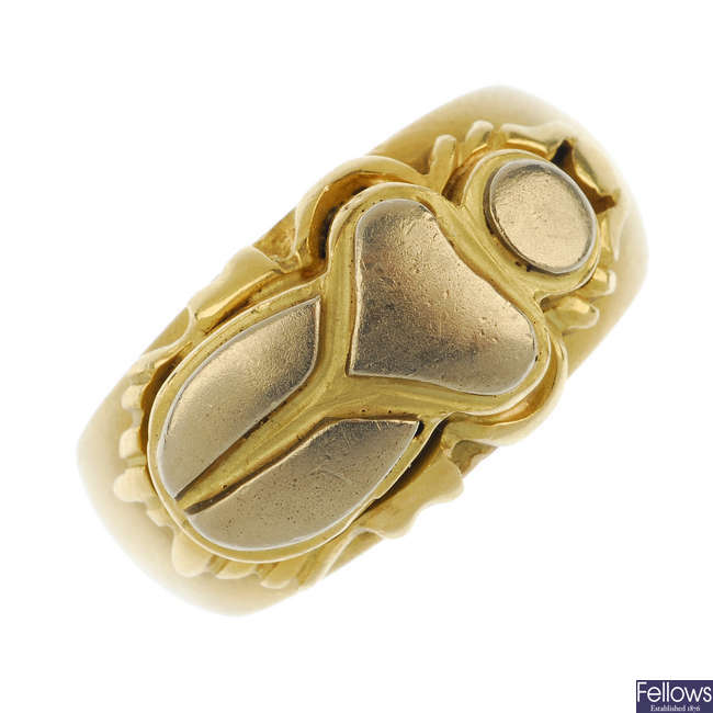 A scarab ring.