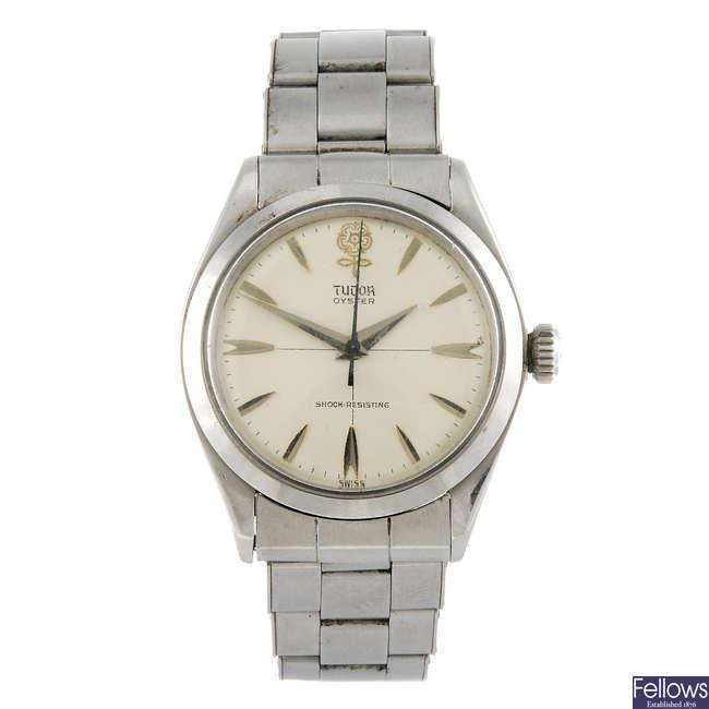 TUDOR - a gentleman's stainless steel Oyster bracelet watch.
