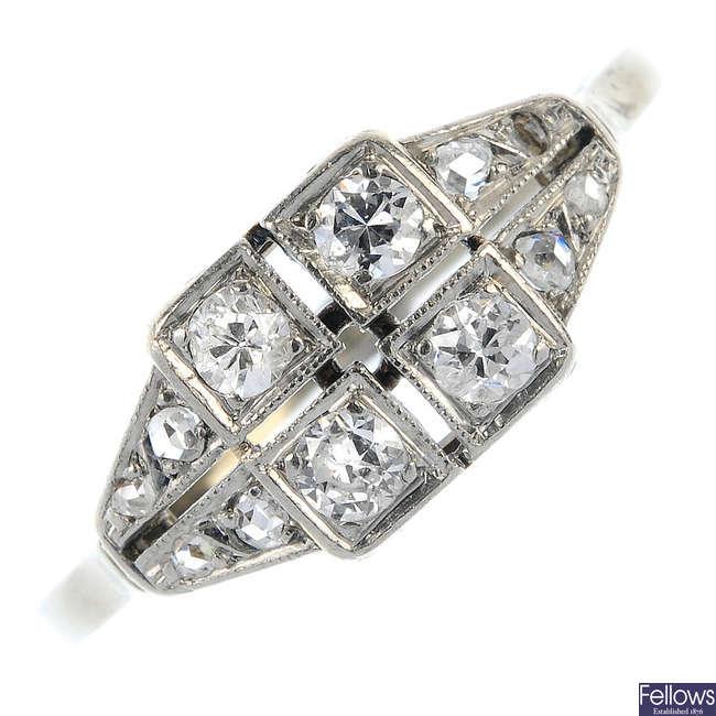 An early 20th century diamond ring.