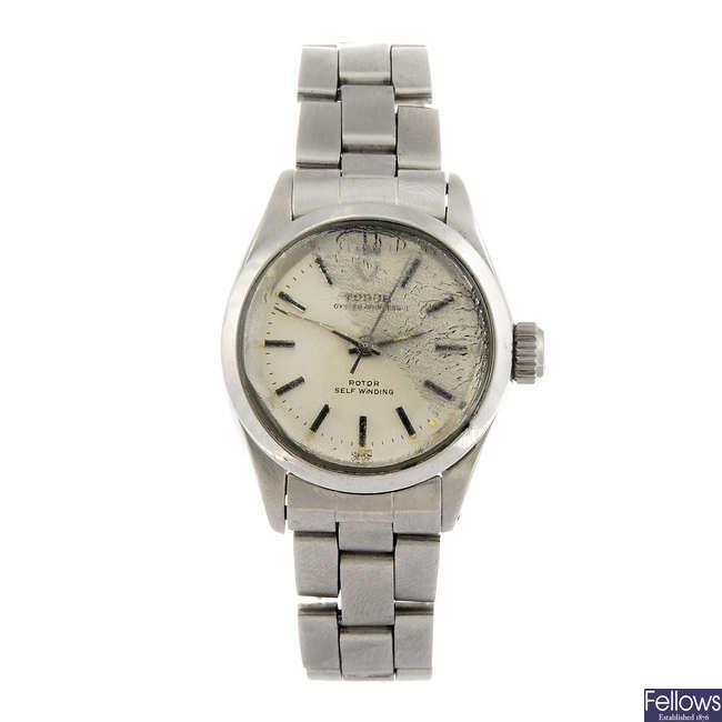 TUDOR - a lady's Oyster Princess bracelet watch.