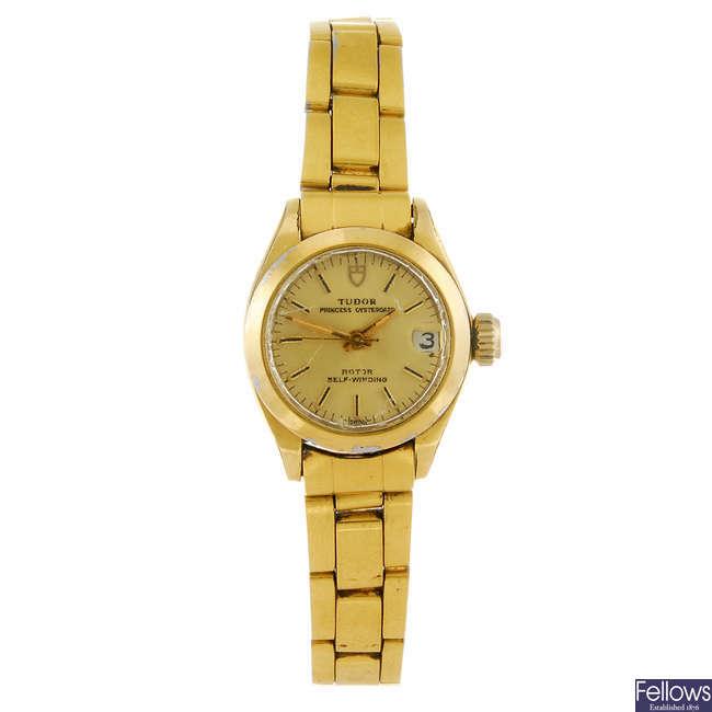 TUDOR - a lady's Princess Oysterdate bracelet watch.