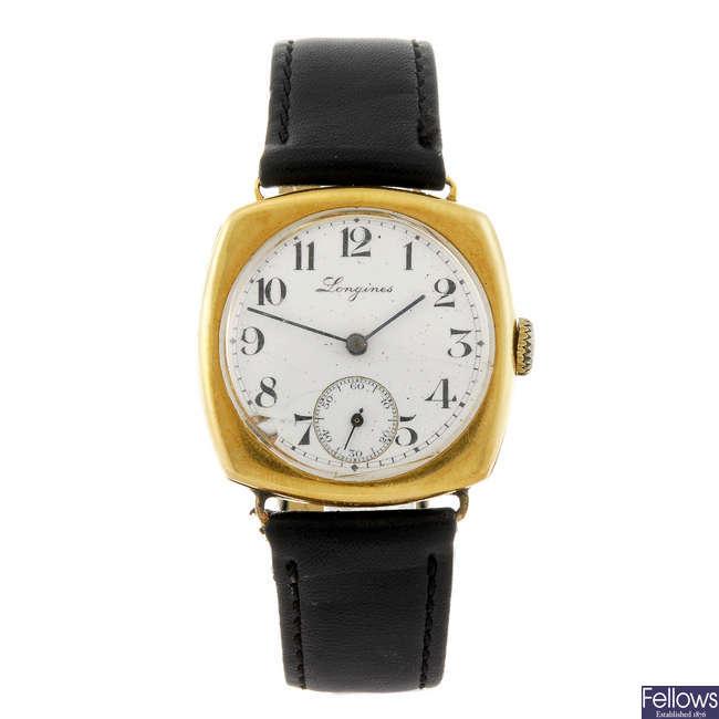 LONGINES - a gentleman's wrist watch.