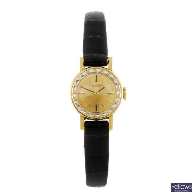 IWC - a lady's wrist watch.