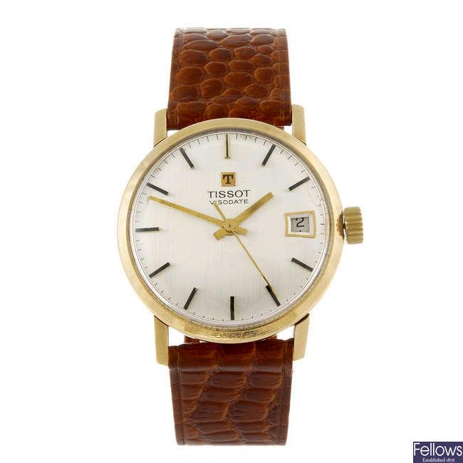 TISSOT - a gentleman's Visodate wrist watch.