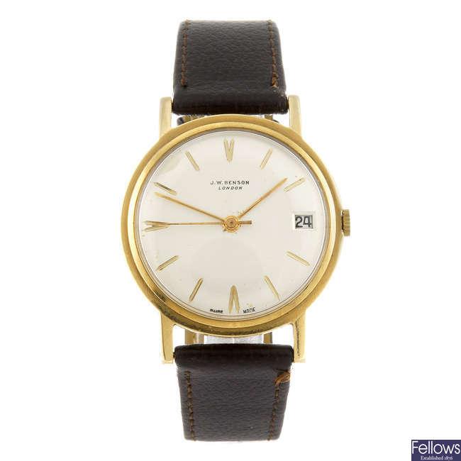 J.W. BENSON - a gentleman's wrist watch.