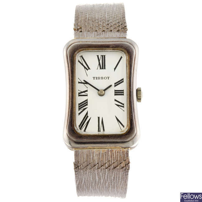 TISSOT - a lady's bracelet watch.