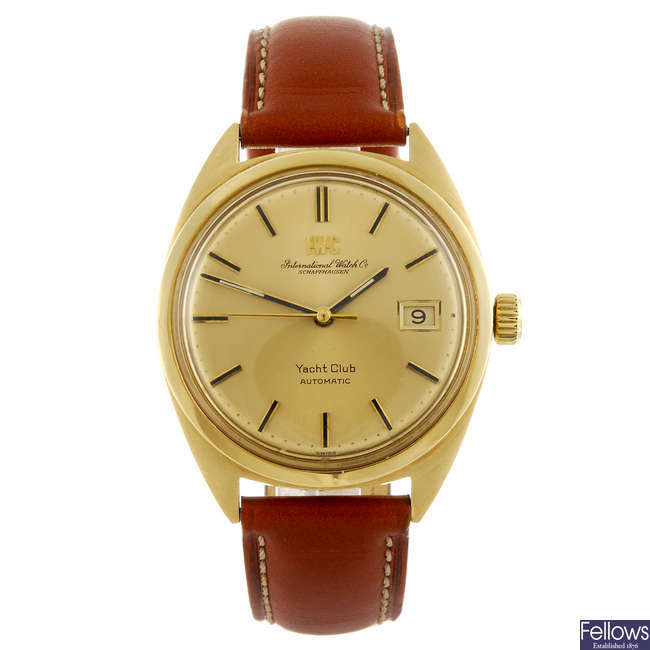 IWC - a gentleman's Schaffhausen Yacht Club wrist watch.